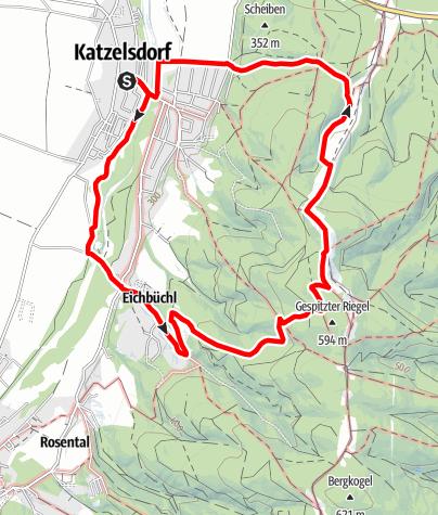 Karte / Katzelsdorfer Gipfelweg (KA 1)