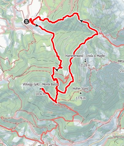 Karte / Auf den Tschafon