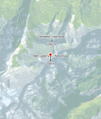 Karte / Die Laaser Spitze (Orgelspitze) 3.305 m