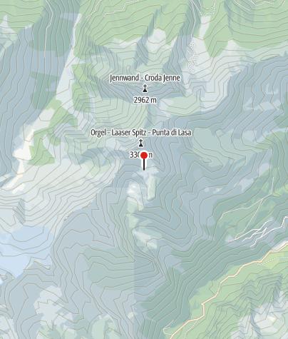 Karte / Weggabelung Laaser Spitze / Schludertal