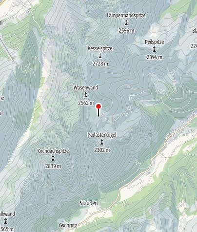 Map / Padasterjochhaus 2.232 m