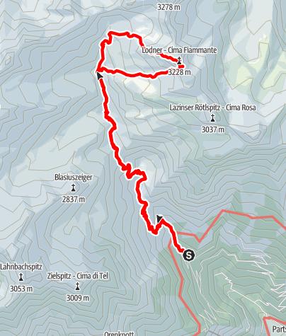 Map / Lodner (3.228 m) - Über dem Westgrat zum Gipfel