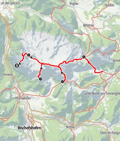 Karte / Über das Tennengebirge