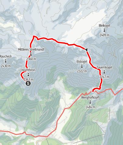 Map / Über das Tennengebirge - Etappe 3