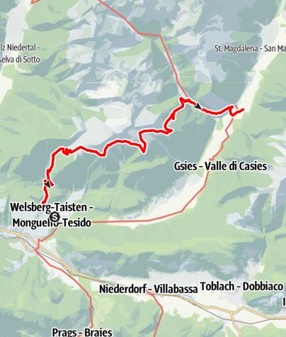 Karte / Über den Dolomitenblicksteig