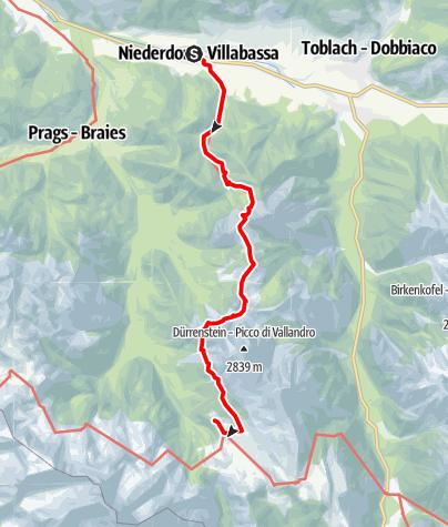 Karte / Dolomiten Höhenweg - Weg der Gämsen