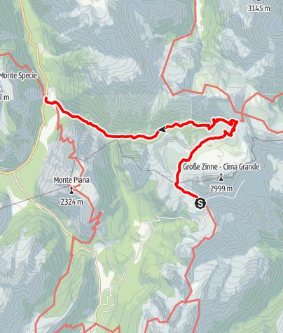 Map / Im Schatten der Drei Zinnen