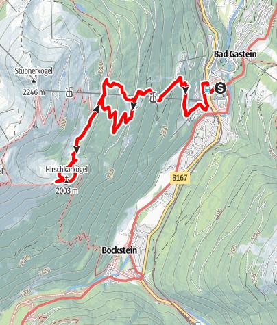 Karte / Hirschkarköpfl (Hirschkarkogel), Gasteinertal