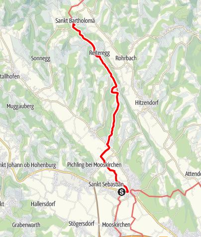 Karte / Rund um den Bezirk Voitsberg - von Söding nach St. Bartholomä