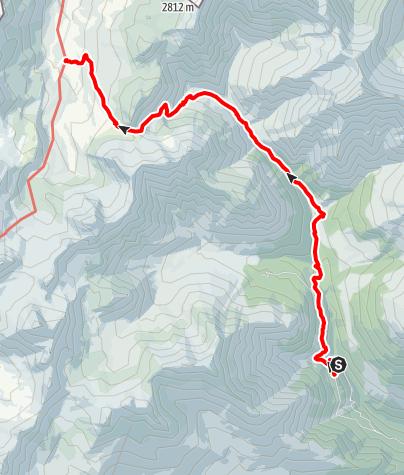 Karte / Val Sinestra – Fimberpass – Heidelberger Hütte