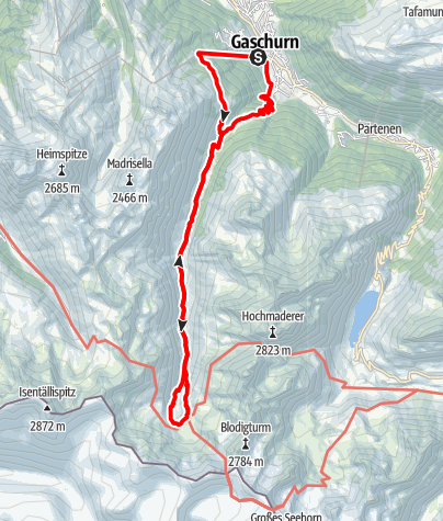 Karte / Tübinger Hütte