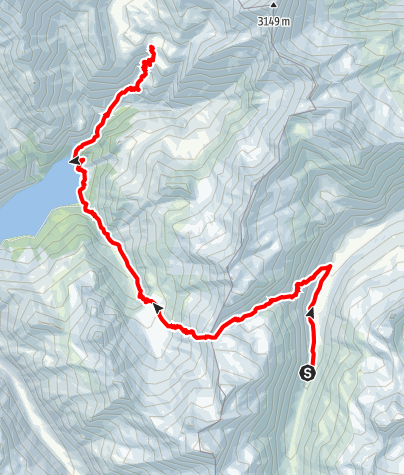 Map / Walserweg - Etappe 5: Läntahütte - Capanna Motterascio