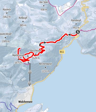 Karte / Schneeschuhwanderung auf den Herzogstand