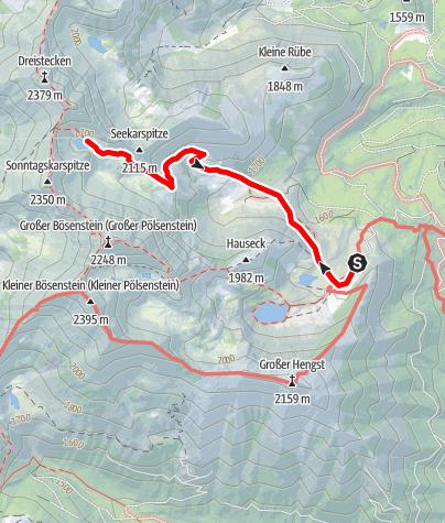 Karte / Gefrorener See