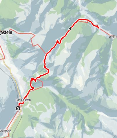 Karte / Hüttschlag: Salzburger Almenweg - Etappe 14
