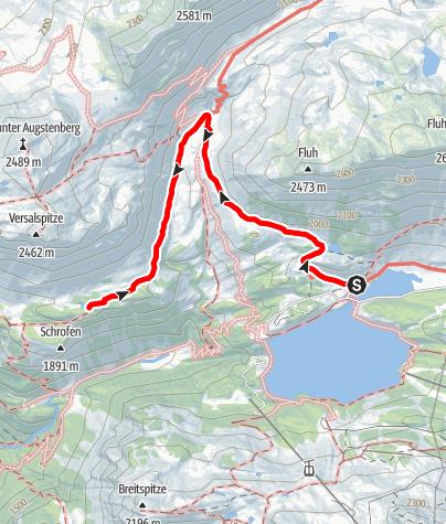 Karte / Zeinisjoch - Wiegensee