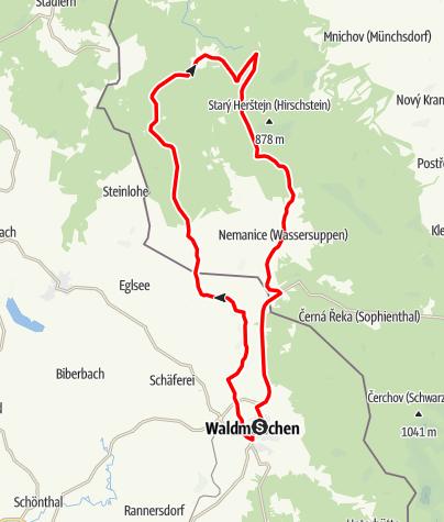 Karte / Schmugglertour