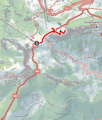 """Karte / Geführte Wanderung """"Bergblumen & Bergg´schichten"""""""
