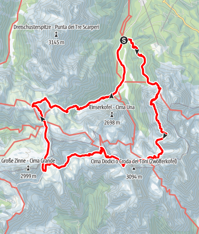 Map /  Alpinisteig Sexten
