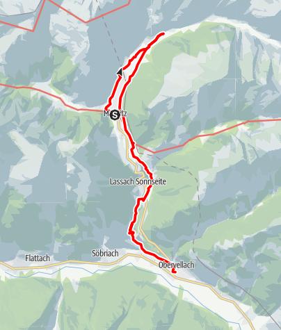 Karte / Etappe 07 Alpe-Adria-Trail: Mallnitz - Obervellach