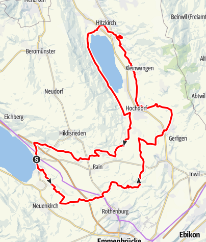 Karte / Sempach-Hochstammtour (Schloss Heidegg)
