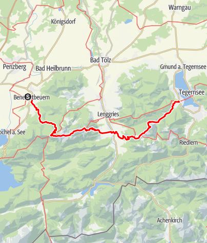 Karte / Benediktbeuern-Bad Wiessee