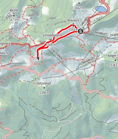 Karte / Lenggries - Brauneck; Kleiner Höhenweg
