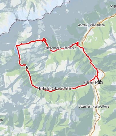 Karte / Über den Neves Stausee auf die Chemnitzer Hütte