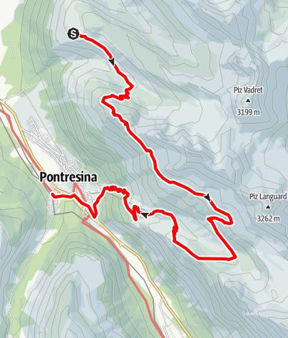 Karte / Über die Segantini Hütte (2.731 m)