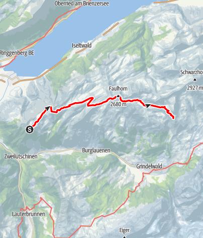 Karte / Von der Schynige Platte zur First