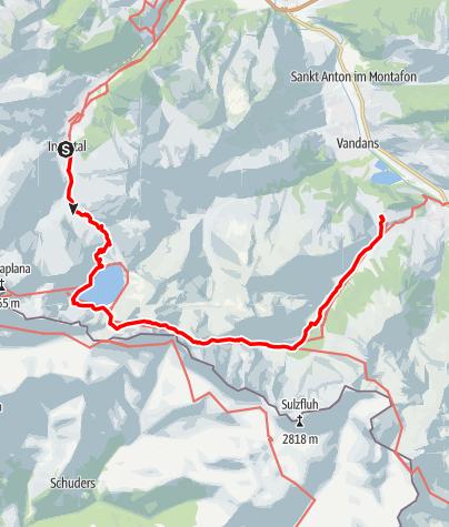 Karte / Vom Lünersee zur Lindauer Hütte | Brand - Latschau/Tschagguns