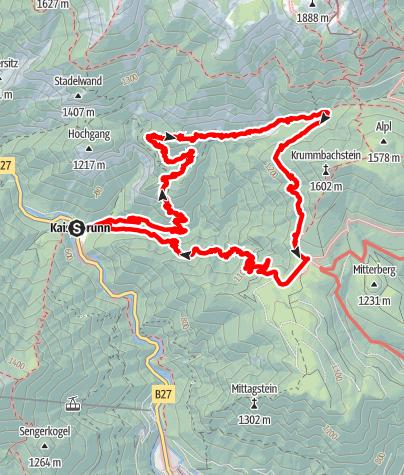 Karte / Brettschacher beim Hochgang Wasserofen Krumbachgraben 30. 08 2015