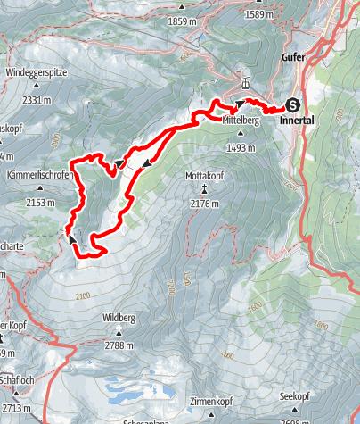 Karte / Brand – Oberzalimhütte – Brüggelealpe