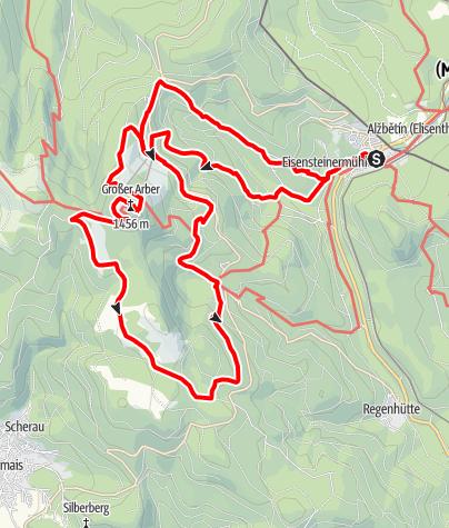 """Karte / Strecke 3 - 24 Stunden von Bayern 2010 """"König Arber Tour"""""""