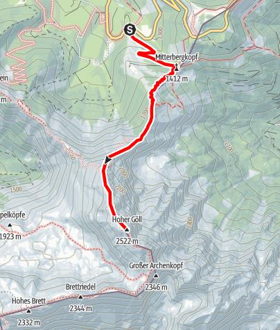 Karte / Hoher Göll