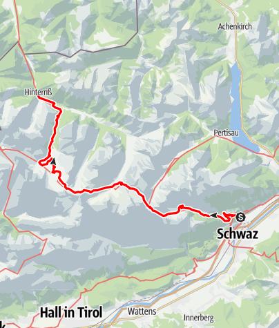 Karte / Schwaz - Hinteriss - oneway