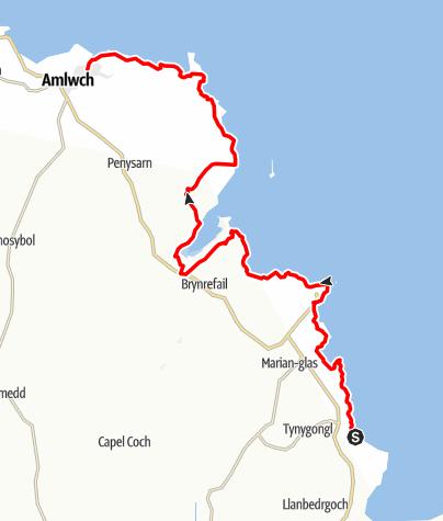 Karte / W1KD46 - Benllech to Amlwch