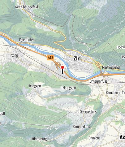 Karte / Zirl Bahnhof
