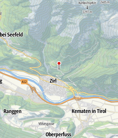 Karte / Hochzirl Bahnhof