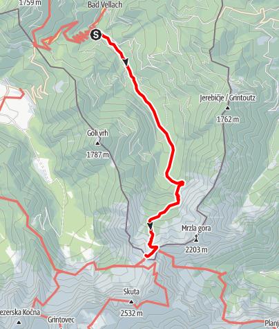 Karte / Seeländer Sattel - Steiner Alpen