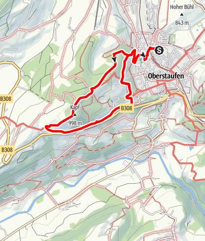 Mappa / 2 Oberstaufen - Paradies - Kapf