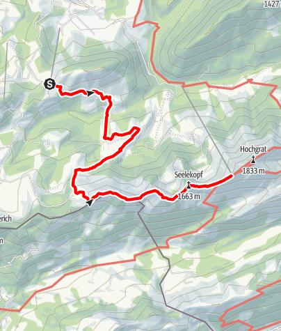 Karte / Premiumwanderweg Luftiger Grat