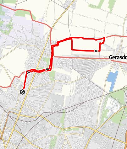 Karte / Marchfeldkanal Jedlersdorf | Gerasdorf