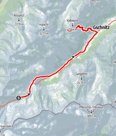 Map / Bremer - Innsbrucker Hütte durchs Gschnitztal
