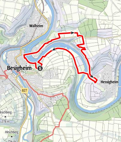 Karte / Besigheimer Felsengärten kleine Runde