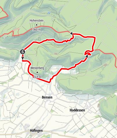 Karte / Roter Steinweg Bensen