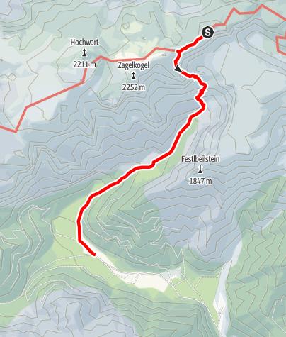 Karte / Bodenbauer - Das G'hackte - Hochschwab