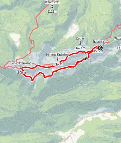 Karte / Brauneck - Achselköpfe - Benediktenwand