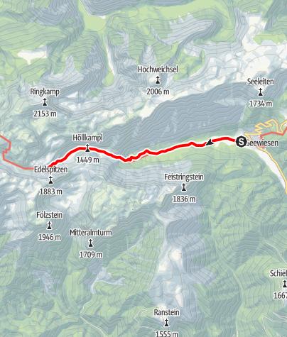 Karte / Seewiesen - Voisthalerhütte
