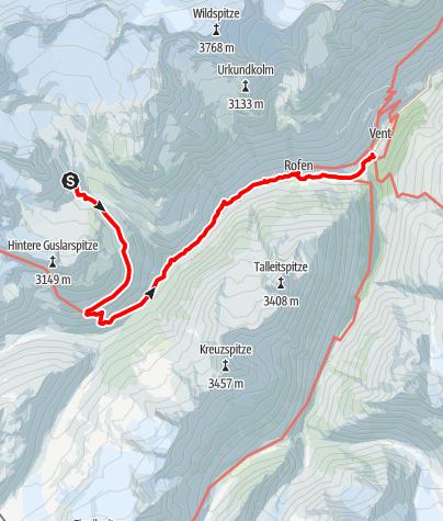 Karte / Vernagthütte - Vent